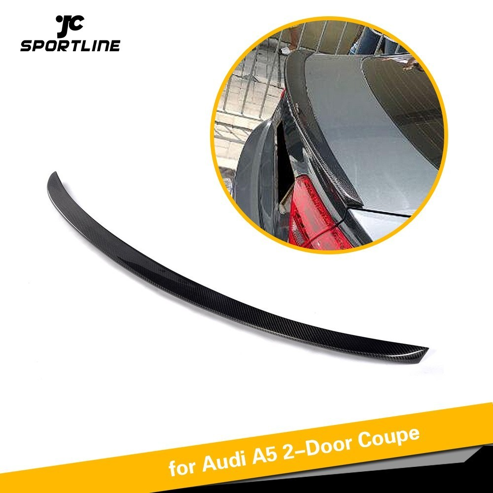 Carbon Fiber Car Rear Trunk Spoiler Wing Boot Lip for Audi A5 Coupe 2017 2018 2019 carbon fiber auto car rear trunk wing lip spoiler for audi for a3