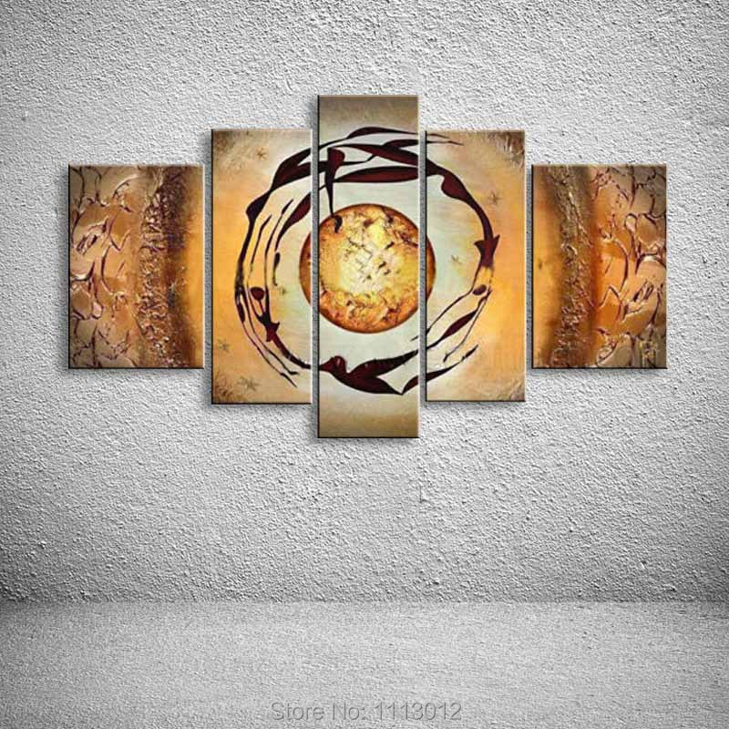 ≧Abstract Yellow Sun Women Oil Painting On Canvas High Quality 5 ...