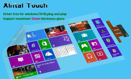 Xintai Touch 40 Inches 16:9 Ratio 10 Touch Points Interactive Capacitive Multi Touch Foil Film Plug & PlayXintai Touch 40 Inches 16:9 Ratio 10 Touch Points Interactive Capacitive Multi Touch Foil Film Plug & Play