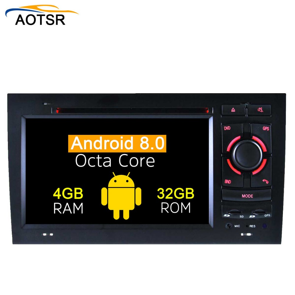 2 Din Android 8.0 Car DVD player For AUDI A6 1997-2004 GPS Navigation Multimedia autostereo WIFI Audio Stereo Radio Headunit