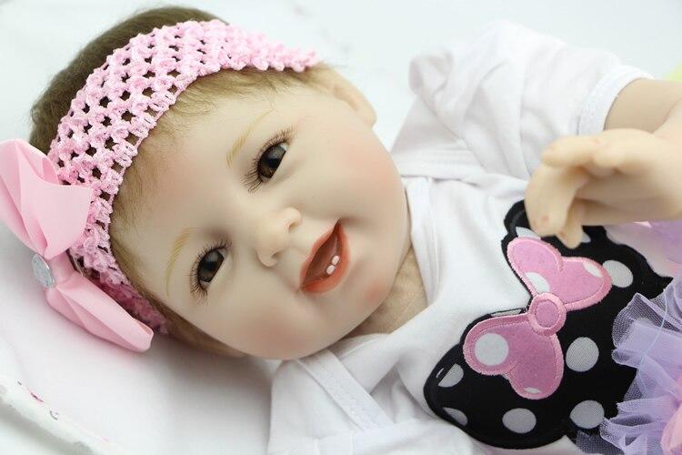 Handmade Reborn Baby Doll 22 Inch 55 Cm Soft Silicone Baby Girl