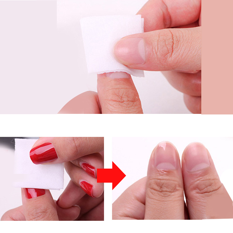 500Pcs/Roll Polish Remover Nail Art Cleaner Gel Nails Wipes Pads ...