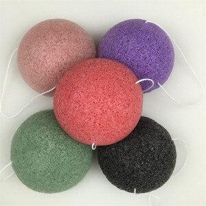 Image 1 - Konnyaku esponja de limpeza facial, ferramenta essencial de limpeza suave para cosméticos de konjac, carvão e bambu, 1 peça