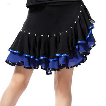 Ladies Latin Dance Skirts Rhinestone Performance/Practice Cha Cha/Rumab/Samba/Latin Dancing Skirt Red/Green/Blue/Purple/Rose - DISCOUNT ITEM  5% OFF All Category