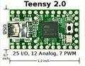 Teensy 2.0 USB placa de desenvolvimento AVR MKII ISP de download cabo AT90USB162