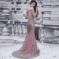 Sexy Backless 2017 Sweetheart Short Sleeves Dubai Luxury Colorful Crystal Rhinestone Mermaid Evening Dresses 3215