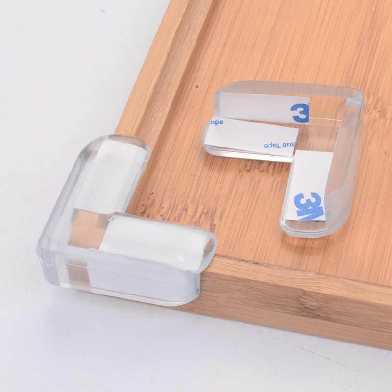 8 pces criança bebê silicone protetor de segurança mesa canto proteção das crianças anticollision borda cantos guardas capa para crianças