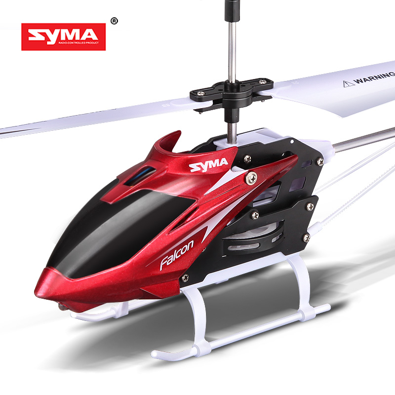 Syma Original W25 RC Helicopter 2 CH 2 Channel Mini RC Drone With Gyro Crash Resistant RC Toys For Boy Kids Gift Red Yellow syma 107e remote control mini drone 3ch rc mini helicopter gyro crash resistant baby gift toys smallest helicopter kid air plane