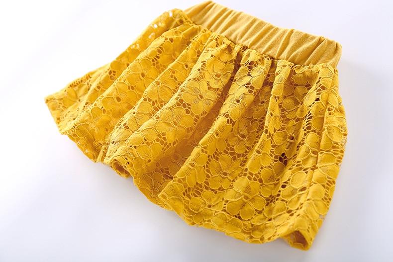 2018 Baby Girls Sweet čipke bombažne hlače krila Otroške torte - Otroška oblačila - Fotografija 2