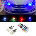 For Hyundai solaris accent i30 ix35 elantra getz santa fe i20 SMD 5050 RGB T10 194 168 W5W Car LED Clearance Bulbs Parking Light