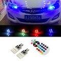 Para Hyundai accent solaris i30 ix35 elantra getz santa fe i20 SMD 5050 RGB T10 194 168 501 W5W Car LED Clearance Lâmpadas Luz de Estacionamento