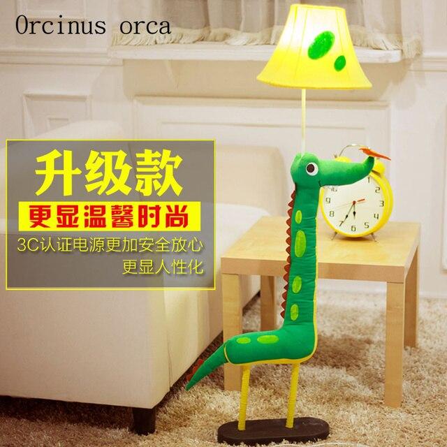 Habitación para niños, lámpara de pie de dibujos animados, tela, lámpara de escritorio vertical de animales, lámpara de noche creativa encantadora para bebé
