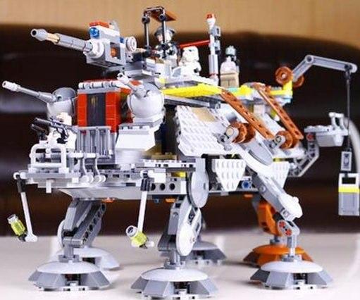 05032 Star Wars 1022 Pcs Captain Rexs AT-TE Minifigures Building Blocks Brick Toy Compatible 75157