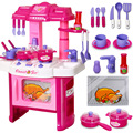 New arrival Girl House Cooking Utensils And Tableware City Acousto-optic Kitchen Set 008-26 Kids Kitchen Play And Learn Games