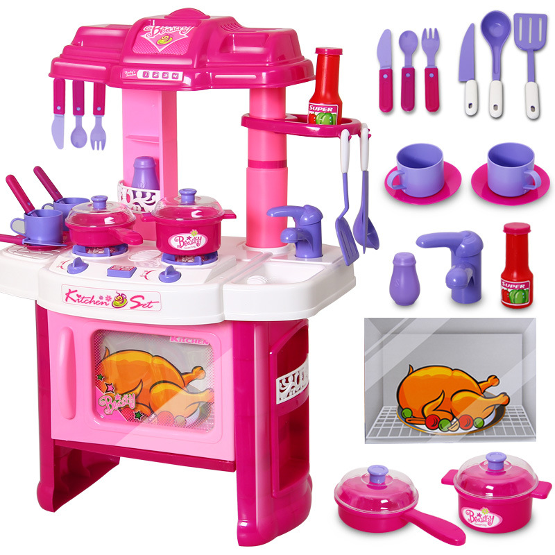 Popular kids kitchen set buy cheap kids kitchen set lots for Kitchen set games