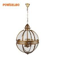 Powerlbo подвесные светильники luminaria повесить лампа с 3 огни E14 и промышленные винтажные sphere для столовой Бар