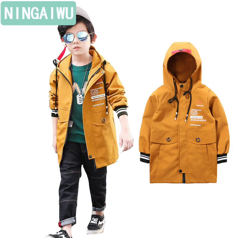 Children's wear new boys spring coat child casual jacket kids long outerwear boy clothes for 3 4 5 6 7 8 9 10 11 12 13 14 years
