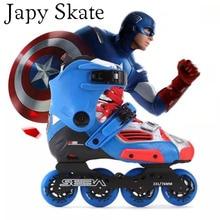 Japy Skate Original SEBA HIGH Captain America Professional Inline Skates Adult Roller Skating Shoes Slalom Free Sliding Patines