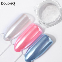 2g /Box Pearl Powder Nail Glitters Shining Diamond Powders Charm Mermaid Dust White Pigment DIY Art Decorations