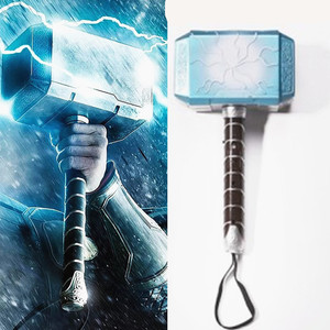 Voice flash Thor's Hammer Costumes props with LED light Kids Children Carnival Purim Hammer For Thor Cosplays props