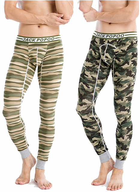 c2f1956a3d2d86 Male winter sexy thermal underwear men camouflage color stripe leggings  sleepwear trousers long johns men's warm