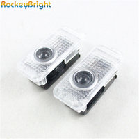 2pcs Car Door Logo Light For BMW MSPORTS 4th Generation Led Car Door Light Welcome Ghost