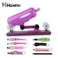 Hismith Purple Sex Machine Gun for women Angle Adjustable Multi Speeds Dropshipping EU UK US AU Adaptor