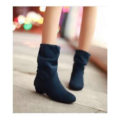 2016 Sıcak sonbahar ve kış kadife botları fırçalayın kadın bot ayakkabı bahar botları kadın pamuk çizmeler düşük kalın topuk