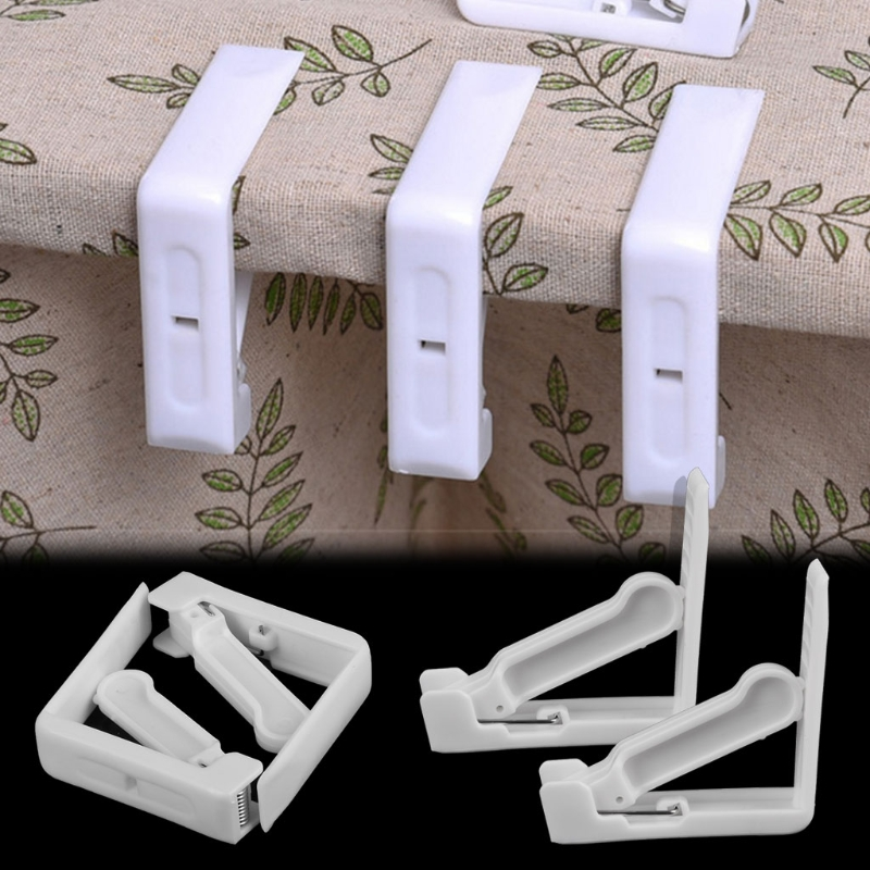4 Pcs Tablecloth Clips Picnic Table Cloth Holder Plastic Table Cover Clamps for Home Kitchen Wedding Party Decor Supplies Tools