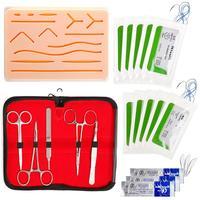 20Pcs/Set Surgical Suture Tool Kit Practice Training Human Skin Model Medical Silicone Suturing Pad Forceps