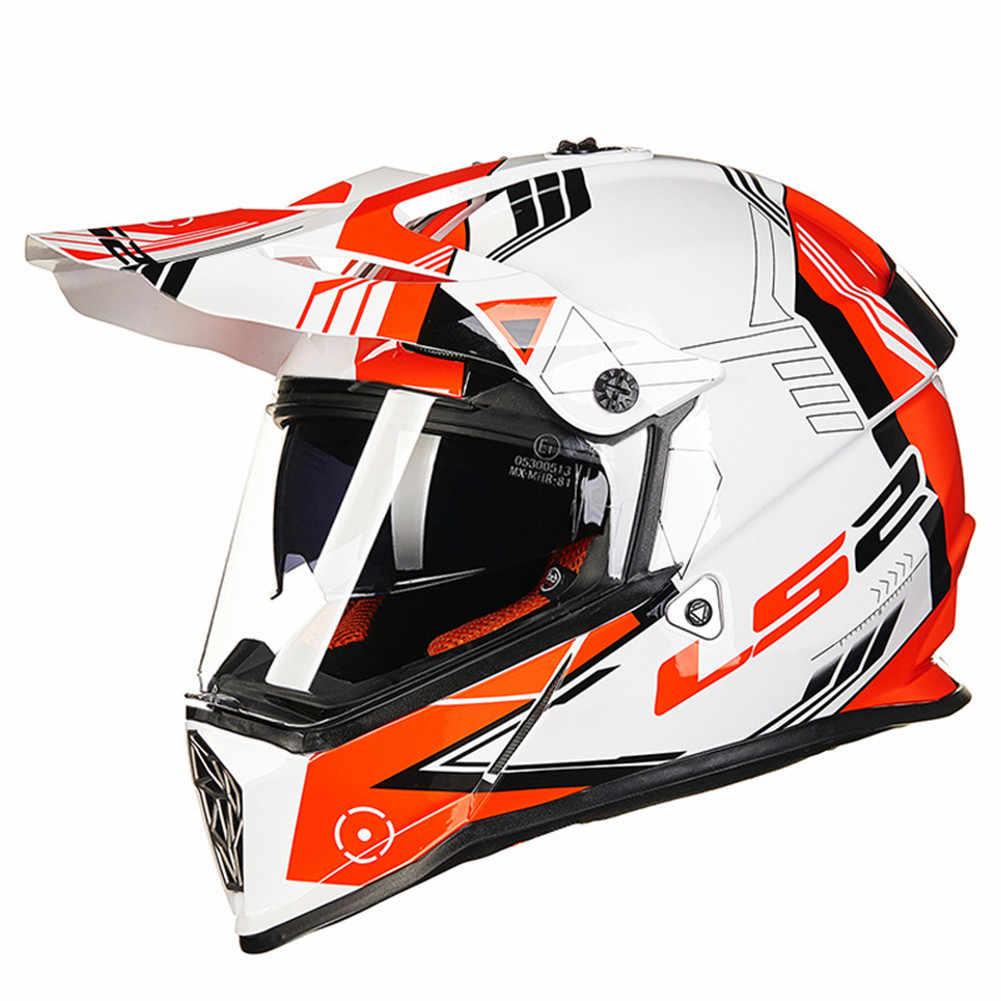 eed7d3b0b5b ... LS2 MX436 PIONEER Dual Sports Motorcycle Helmet Motocross Off Road 0613  ATV Casque Casco Moto Capacetes ...