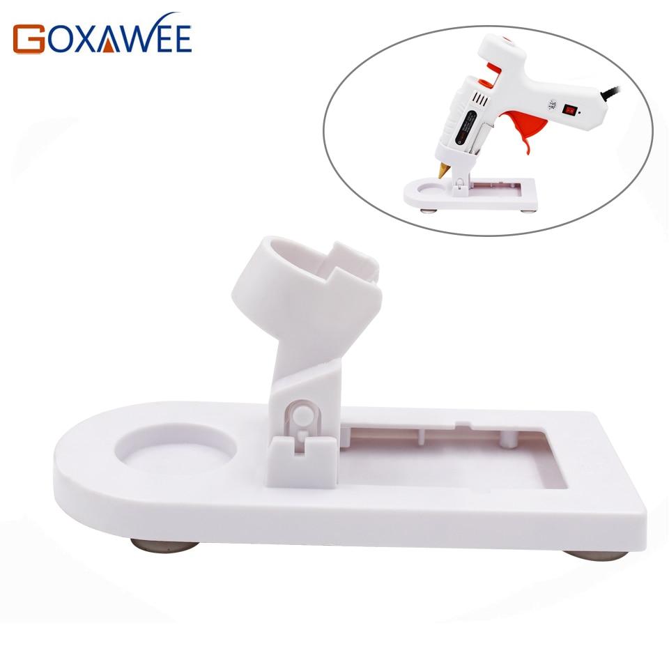 GOXAWEE 20W 80W 105W Hot Melt Electric Heat Glue Gun Stand Base For Home DIY Repair Glue Pistol