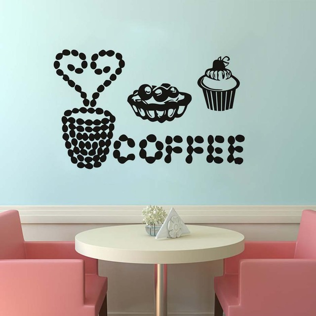 vinyl wall decal cut coffee cake sticker wall art kitchen restaurant