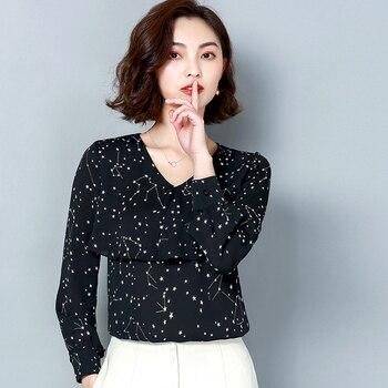 d63f758e0254 Blusas de mujer de manga larga de talla grande de cuello vuelto de manga  larga de impresión Retro ...