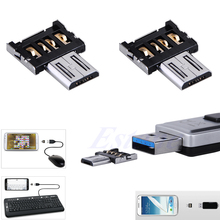 Mini Micro USB Male to USB Female OTG Adapter Converter For Android Tablet Phone