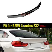 4 Series F32 Car Styling Carbon Fiber Rear Trunk Boot Spoiler Wing for BMW 420i 428i 430i Coupe 2 Door M4 style 2014-2018