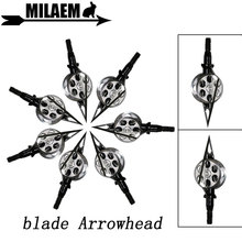 3/6/12pcs 100Gr Archery Blade Arrowhead Screw Hunting Broadheads Arrow Point Tips Outdoor Shooting Training Accessories