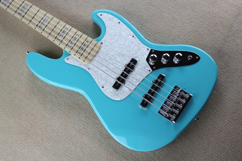 2017 Top Quality China Custom Musical Instruments Jazz 5 Strings Electric Guitar Bass Light Blue 930 In From Sports Entertainment On