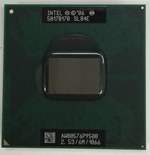 Intel Core 2 Duo P9500 CPU 2.53G 6 M 1066 MHz Soquete p Laptop SLGE8 SLB4E