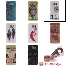 Fashion Ultra Thin TPU Silicone Soft Phone Mobile Case caso kryty capinha Cover For Samsung Samsug Samsuns Galaxy S6 Edge Tree(China)