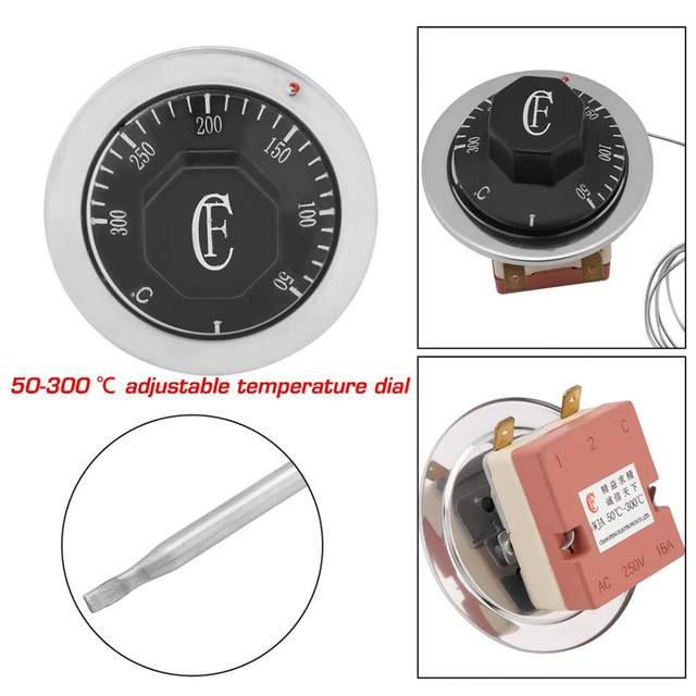 3 Pin AC 250V 16A 50 to 300 Degrees Celsius Thermostat Temperature  Controller-in Temperature Instruments from Tools on Aliexpress com |  Alibaba Group