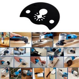 Image 4 - 88mm/3.46 inches Semi Circular High Carbon Carbon Segment Saw Blade Oscillating Mini Woodworking/Metalworking Cutting Tool