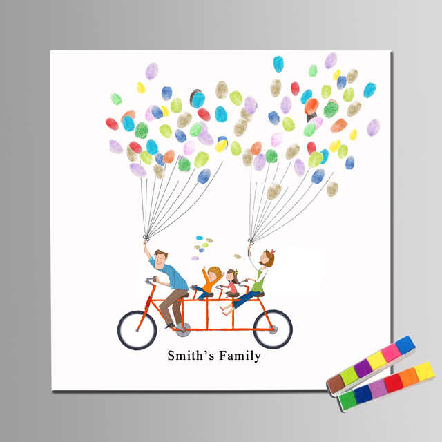 with inkpads family party guestbook alternative fingerprint custom