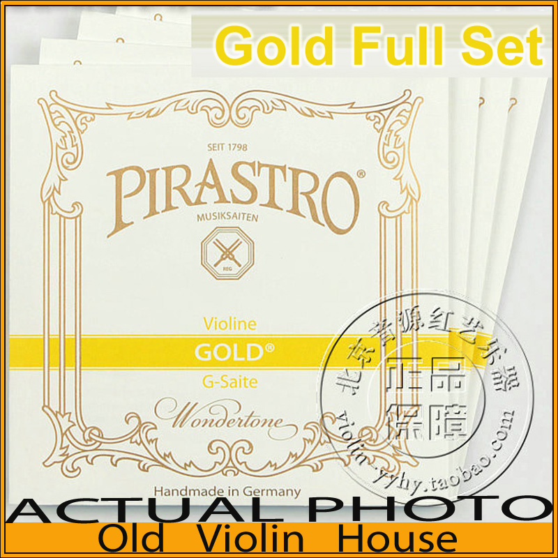 Pirastro Gold Label violin strings (215021), Medium with Ball-End,full set,made in Germany,Free shipping alice a704 senior performance violin strings set