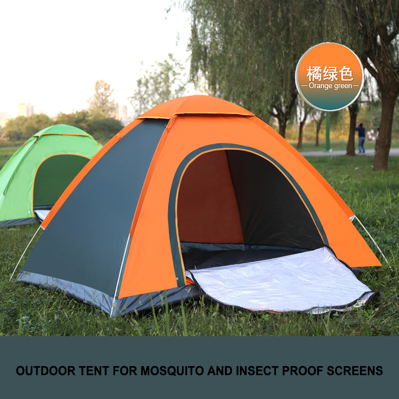 Confident 2019 New Convenient 2 Man Camping Tents Pop Up Fully Automatic Quick Opening Small Backpacking Hiking Tents Teepee Lightweight Quell Summer Thirst