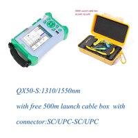 Komshine SM OTDR QX50-S 1310/1550nm с бесплатной SM старт кабельный бокс SC/UPC-SC/upc-разъем