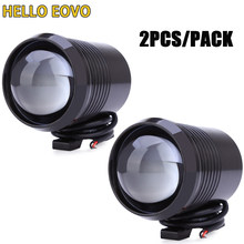 2PCS Motorcycle Headlight U2 1200LM 30W High Low Flash LED Driving Spot Head Bulb Light Lamp Headlight Black Silver(China)