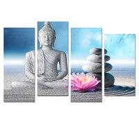Visual Art Decor Buddha Painting Canvas Art Prints DIY Home Wall Decoration Stone Zen Chinese Joss Canvas Prints