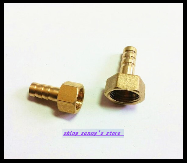 15Pcs/Lot  BFG12-04  12mm-1/2 BSP Female Barbs Hose Brass Adapter Coupler 15pcs lot 8 03 8mm 3 8 bsp 2 ways male barbs elbow hose brass pipe adapter coupler