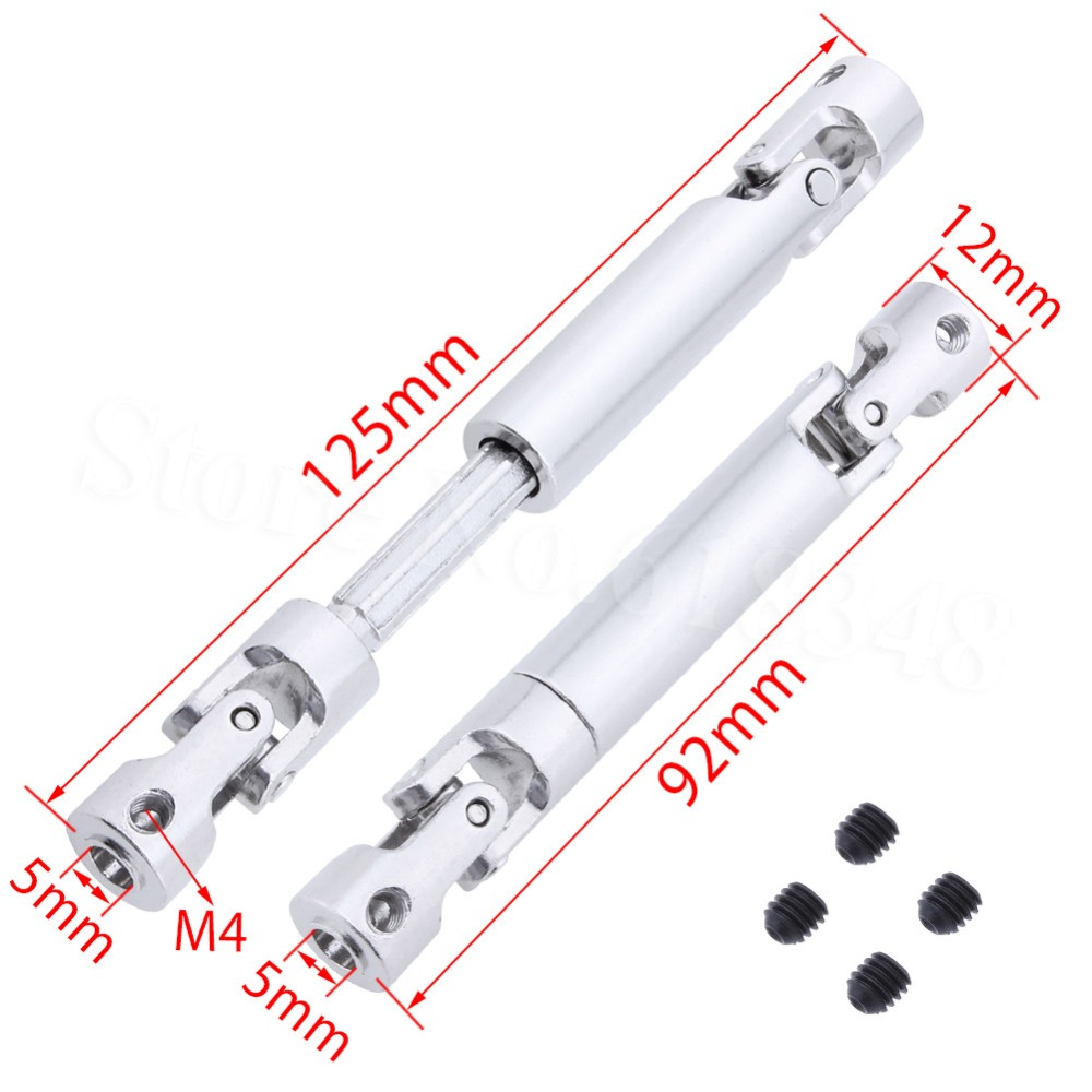 1 Pcs Steel Drive Shaft Joint CVD 92-125mm / 110-155mm For 1/10 Scale RC Crawler SCX10 RC4WD D90 Cross Axial CC01 Truck Tamiya